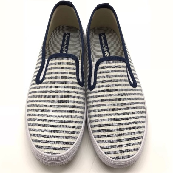ad16e23906c2f0 American Eagle By Payless Shoes - Women American Eagle navy blue Stripes  Canvas Shoe